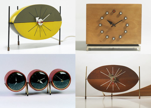 George Nelson Table Clocks 171 The Mid Century Modernist